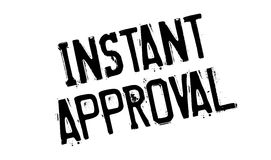 Instant Approval rubber stamp Stock Photos
