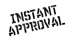 Instant Approval rubber stamp Stock Image