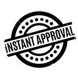 Instant Approval rubber stamp Royalty Free Stock Photo