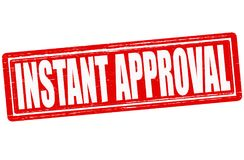 Instant approval. Stamp with text instant approval inside,  illustration Stock Photography