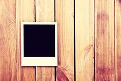 Instant blank polaroid photos frame. Stock Photo