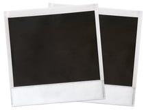 Instant camera frames. Set of 2 instant camera frames Stock Photography