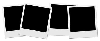 Instant Camera Frames. Set of High Resolution blank Instant Camera Frames. Isolated on white for your brochure or web ads stock photo