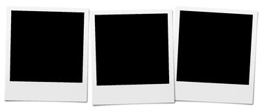 Instant Camera Frames. Set of High Resolution blank Instant Camera Frames. Isolated on white for your brochure or web ads Royalty Free Stock Image