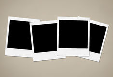 Instant Camera Frames. Collection of blank instant camera frames Stock Photos