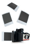 Instant camera photos Stock Photo