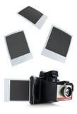 Instant camera photos Stock Photo