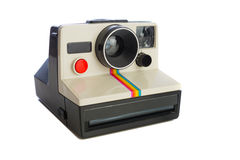Instant camera on white Stock Image