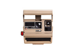 Instant camera on white Stock Photos