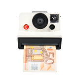 Instant cash camera Royalty Free Stock Photography