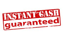 Instant cash guaranteed Royalty Free Stock Image