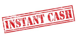 Instant cash red  stamp Royalty Free Stock Images