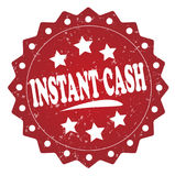 Instant cash red stamp Royalty Free Stock Image