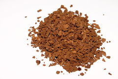 Instant coffee. Macro of instant coffee granules Stock Photo