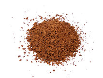 Instant coffee. Ness coffee powder over the white background Royalty Free Stock Photos