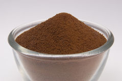 Instant Coffee. Powder against a white background Royalty Free Stock Photos
