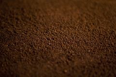 Instant coffee as a texture. Top view Stock Photos