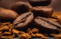 Instant Coffee macro Royalty Free Stock Photos