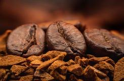 Instant Coffee macro Royalty Free Stock Image