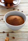 Instant coffee in a bowl Stock Photo