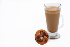 Instant coffee and chocolate muffin Royalty Free Stock Photography