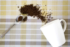 Instant coffee with cup Stock Photos