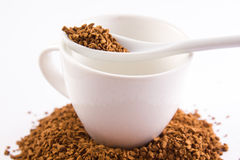 Instant coffee cup spoon Royalty Free Stock Photo