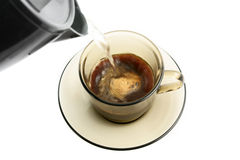 Instant coffee in glass cup Royalty Free Stock Photography