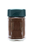 Instant coffee in glass jar Royalty Free Stock Image