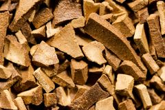 Instant coffee granules Stock Image