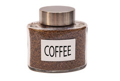 Instant coffee jar Stock Photography