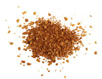 Instant coffee powder isolated on white background Royalty Free Stock Images