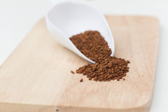 Instant coffee powder Stock Photography