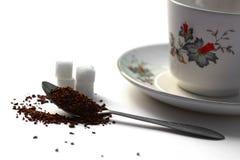 Instant coffee preparation theme Stock Photo
