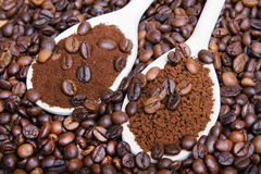 Instant coffee in spoon Stock Image