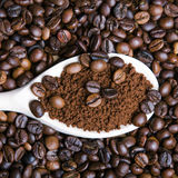 Instant coffee in spoon Stock Photos