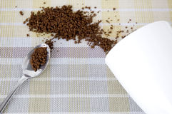 Instant coffee in spoon Stock Photography