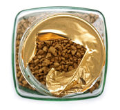 Instant coffee, top view Stock Photos