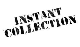 Instant Collection rubber stamp Royalty Free Stock Images
