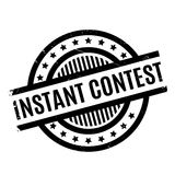 Instant Contest rubber stamp Royalty Free Stock Photography