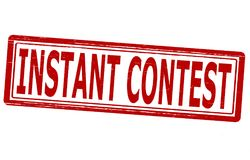 Instant contest. Stamp with text instant contest inside, illustration Stock Photos