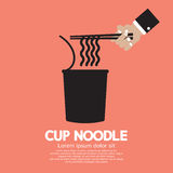 Instant Cup Noodle. Vector Illustration Stock Photography