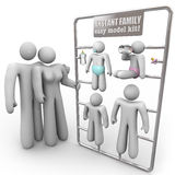 Instant Family Model Kit Stock Images