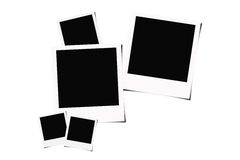 Instant film background. Polaroid instant films isolated on white background Royalty Free Stock Photography