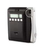 Instant film camera. Beautiful new instant film camera isolated on white Stock Photo