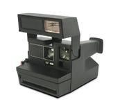 Instant film camera on white background.  Stock Photos