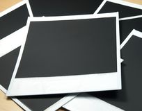 Instant film frames. Several empty instant film frames stock photography