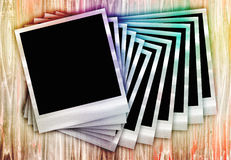 Instant Film Photos In a Row Stock Image