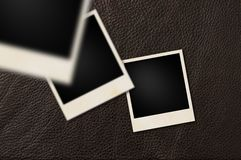 Instant films leather Royalty Free Stock Photos