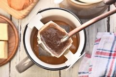 Instant Freshly Brewed Cup Of Coffee Royalty Free Stock Photos
